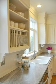 """""""Bringing in the Light"""" ~ A Kitchen Makeover on a Tight Budget - THIS is lovely"""