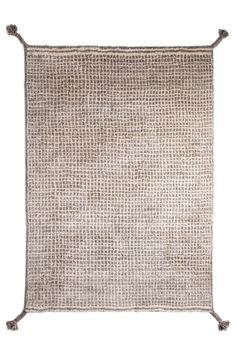 Woodnotes' hand knotted wool carpet col. white-light grey