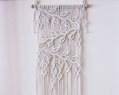 Macrame Wall Hanging - Sprigs #2- Handmade Macrame Home Decor/ Macrame Wall…