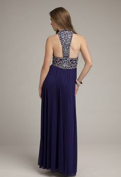 Prom Dresses 2013 - Long Mesh Racer Back Dress from Camille La Vie and Group USA