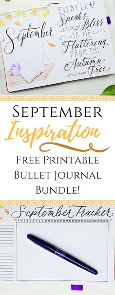 Free Printable Bullet Journal Bundle!