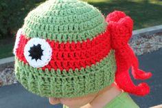 Teenage Mutant Ninja Turtle Character Hat by sunshineknitandsew, $25.00