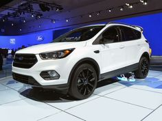 2017 Ford Escape Titanium - LA Auto Show 2015 // On the horsepower front, 2017 brings the arrival of the turbocharged EcoBoost engine, as well as a. Car Ford, Ford Trucks, Ford Used Cars, 2017 Ford Escape, Audi, Bmw, Ford News, Ford Expedition, Ford Explorer