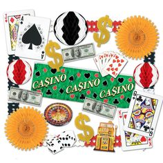 Transform your party space into your own exciting Casino with this Casino Night Party Decoration Kit Perfect for poker night, or any Las Casino Party Decorations, Casino Party Foods, Casino Night Party, Casino Theme Parties, Party Centerpieces, Table Decorations, Casino Royale, Las Vegas, Vegas Casino