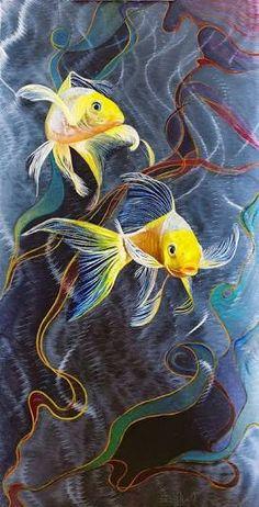 """Résultat de recherche d'images pour """"colorful fish painting"""""""