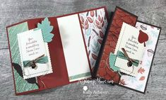 Fancy Fold Cards, Folded Cards, Fall Cards, Holiday Cards, Leaf Cards, D 20, Stamping Up Cards, Thanksgiving Cards, Creative Cards
