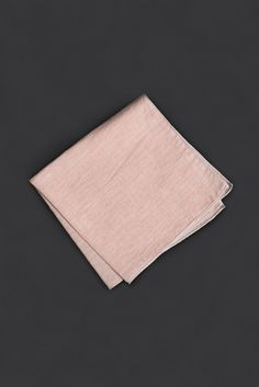 Salmon Striped Pocket Square
