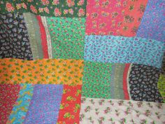 Kantha Patchwork Quilt Quilted by Labhanshi on Etsy, $99.00