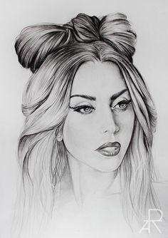 pencil drawing of Lady Gaga / more at: www.facebook.com/modesta.moreart  www.instagram.com/modeztart