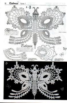 .Lace crochet butterfly