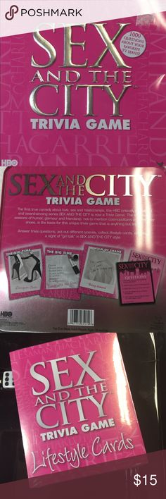 Sex And the City game Sex And the City Trivia game. Never played. Most still sealed in plastic.  Small dent in metal case. Sex And the City Other
