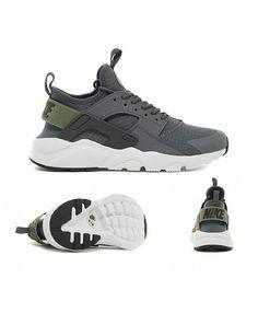 low priced 24a03 587eb Chaussure Nike Huarache Run Ultra Dim Gris Vert