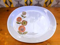 Mid Century Modern Plate . Johnson Bros Platter . MCM dish.