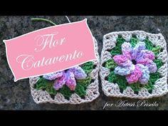 Flor Catavento - Crochê - Passo a Passo - YouTube
