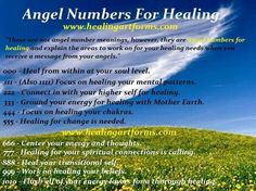 Angel Numbers for healing