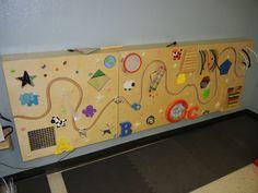 Activity wall in sensory room at University UMC, San Antonio