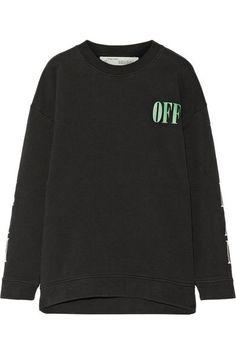 Off-White - Psycho Printed Cotton-jersey Sweatshirt - Black -