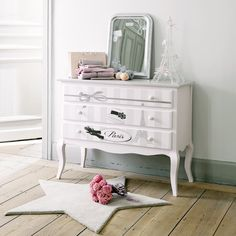 Child's chest of drawers, pink PARIS MODE