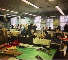 The #zacposen #atelier today! Where the magic happens.