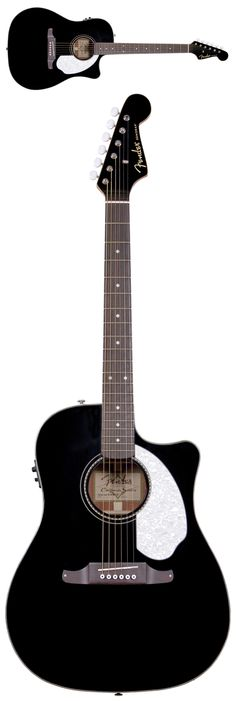 Fender Sonoran SCE Acoustic Electric Guitar, Black