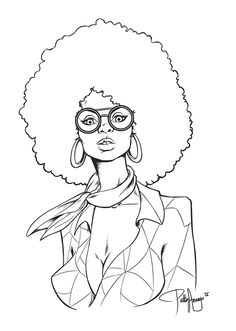 african american line art Yahoo Image Search Results coloring