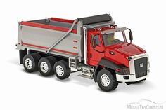 Caterpillar CT660 Dump Truck in Red, Red - Diecast Masters 85502 - 1/50