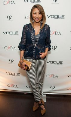 Jeannie Mai Photos - Jeannie Mai attends the Council Of Fashion Designers Of America Celebrate The Launch Of The Annual Design Series For Vogue Eyewearon party on January 2014 in Beverly Hills, California. - Design Series for Vogue Eyewear Launch Plaid Outfits, Fashion Outfits, Fashion Trends, Jeannie Mai, 2 Piece Outfits, Fashion Forward, Eyewear, Fashion Beauty, My Style