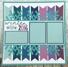Courtney Lane Designs: Cricut Winter 2016 scrapbook layout