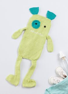 We've got TWO free patterns for you to knit for baby! Download this adorable burp-cloth pattern from the book Knit a Monster Nursery; then visit designer Rebecca Danger's blog for a baby-sized washcloth pattern. Sooo cute!
