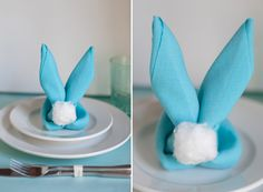 Perfect way to fold your napkins for Easter dinner!! Video how-to
