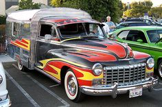 Now this is one funky retro Camper... motorhome conversion maybe? Very cool! Want Want Want.