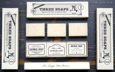 Apothecary Soap Set from Izola. Apparently soap used to look awesome. Now it can again.