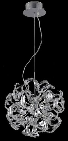 Elegant Lighting Tiffany 13 Light Dining Chandelier in Chrome with Elegant Cut Clear Crystal 2068D22C/EC at Lighting New York