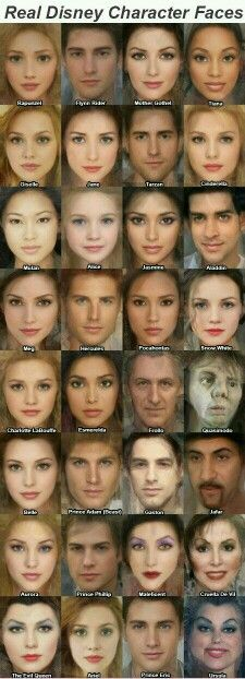 Real Disney faces.