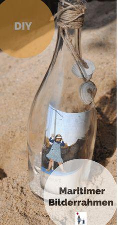 Flaschenpost mal anders: Maritime Deko DIY - Bilderrahmen