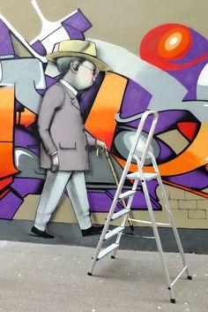 Seth - street art - Paris 13 - rue Barrault (juin 2013)