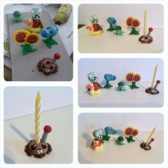Plants vs. Zombies Birthday Cake Topper Birthday Keepsake by RSQD