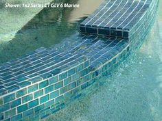 Classic Pool Tile & Stone - Spotswood, New Jersey - Pool Tile Swimming Pool Tiles, Small Swimming Pools, Swimming Pools Backyard, Pool Landscaping, Pool Coping, Pool Spa, Waterline Pool Tile, Glass Pool Tile, Pool Remodel
