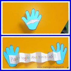 Five ideas for Father& or Mother& Day - odd jobs .- Cinque idee per la festa del papà o della mamma – lavoretti con le impronte Five ideas for Father& or Mother& Day – jobs with fingerprints Preschool Body Theme, Diy And Crafts, Crafts For Kids, Bible Story Crafts, Diy Gifts For Dad, Daddy Day, Diy Upcycling, Father's Day Diy, Fathers Day Crafts