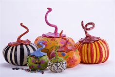 Paper mache Magic pumpkins containers collection