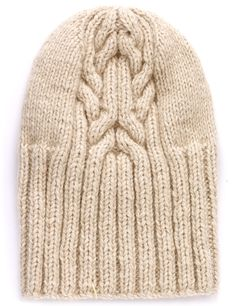 Natural Cashmere Cable Beanie The North Circular