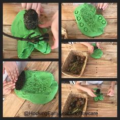 Fun with playdough & nature