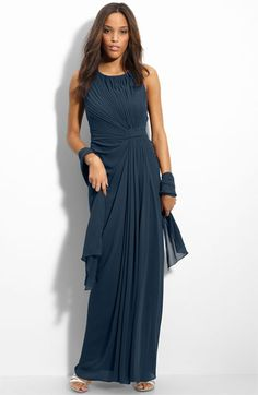 An elegant look for a mother of the bride or mother of the groom.  This dress is a lovely look for a formal wedding.