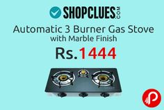 Shopclues Offers automatic 3 Burner Gas Stove with Marble Finish with 74% discount. You have to pay only Rs. 1444. It has Stainless Steel Body, Brass Burner Tops, C.I. Mixing Tubes, Stainless Steel Drip, Trays around burners to receive spillages, Bakelite Knobs, Stainless steel body Dimension: 755 x 425 x 110 mm ISO 9001-2008 Certified.  http://www.paisebachaoindia.com/automatic-3-burner-gas-stove-with-marble-finish-only-in-rs-1444-shopclues/