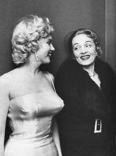 Marilyn Monroe & Marlene Dietrich    [Image Source: allaboutmarilynmonroe.tumblr.com/]