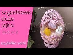 Filet Crochet, Knit Crochet, Easter Crochet Patterns, Crochet Home, Happy Easter, Easter Eggs, Embroidery Designs, Christmas Bulbs, Knitting