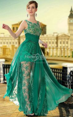 Modest Green Dress Embroidery Handmade Beaded at http://www.internetmarketingtrainingcenter.net
