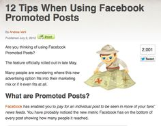 12 Tips When Using Facebook Promoted Posts