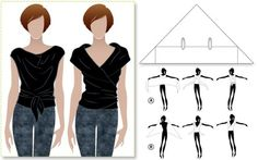 How to DIY An Easiest Two-Way Wrap Top | www.FabArtDIY.com LIKE Us on Facebook ==> https://www.facebook.com/FabArtDIY