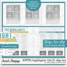 AWITLHighlights 12x12: Slip-Ins by Nettio Designs and Traci Reed